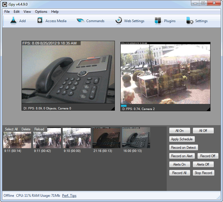 screen capture of iSpy