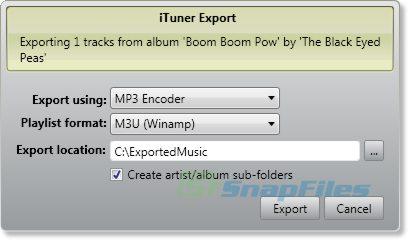 screenshot of iTuner