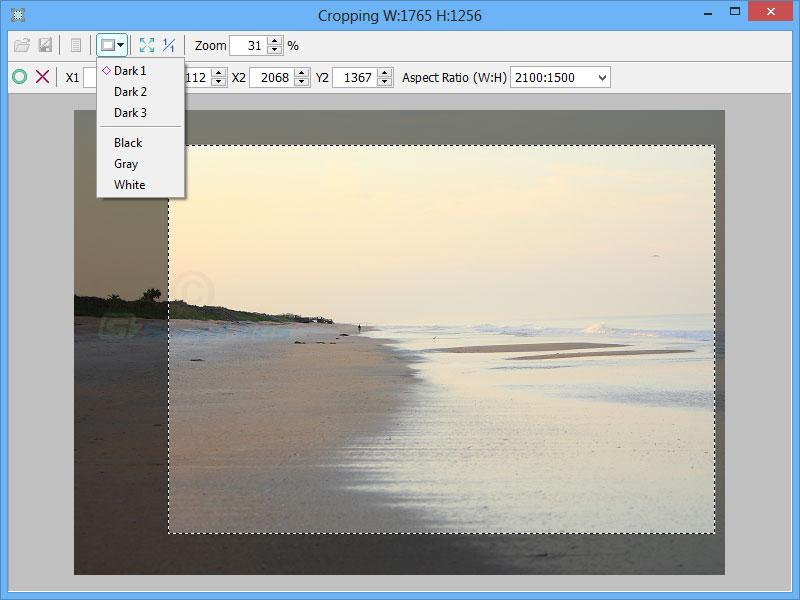 screenshot of Jcropper