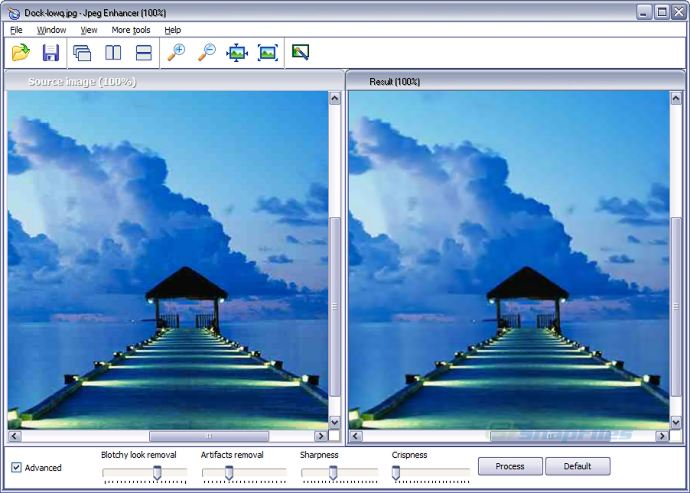 screenshot of JPEG Enhancer