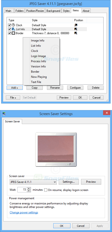 screenshot of JPEG Saver