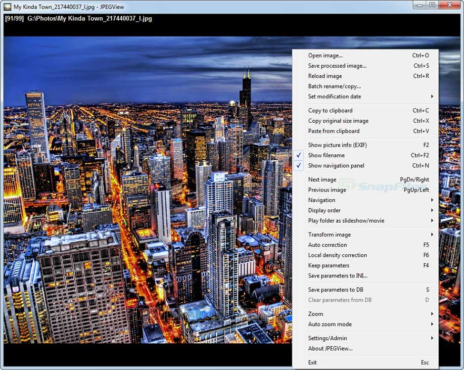 screenshot of JPEGview