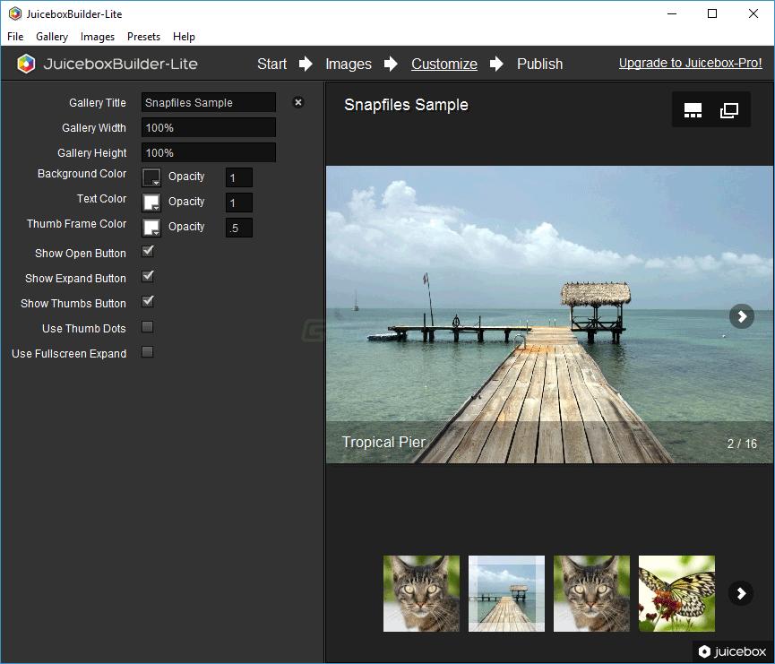 screenshot of Juicebox Lite