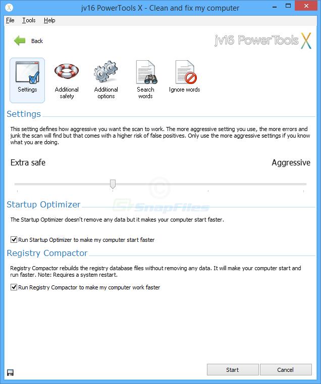 screenshot of jv16 PowerTools