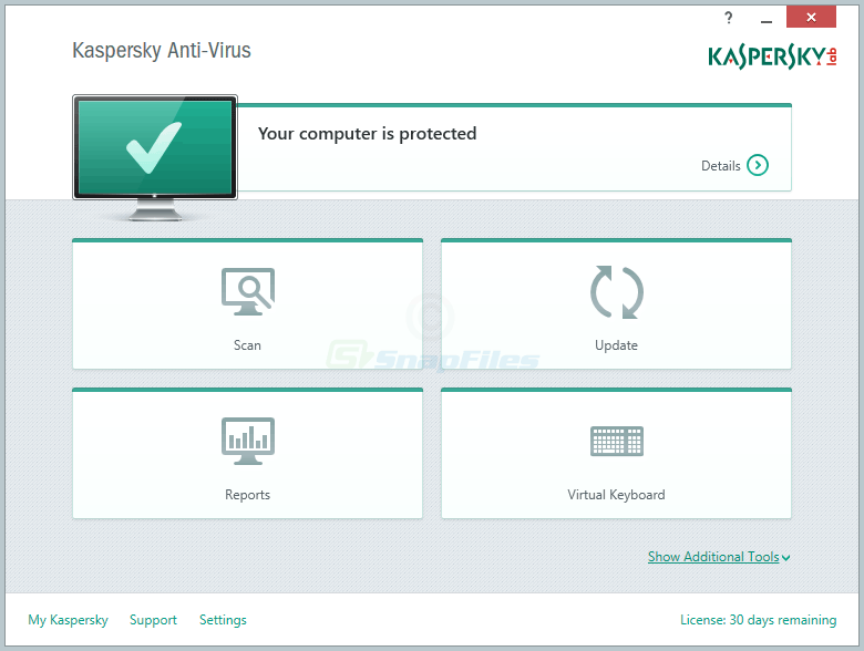 screen capture of Kaspersky Anti-Virus
