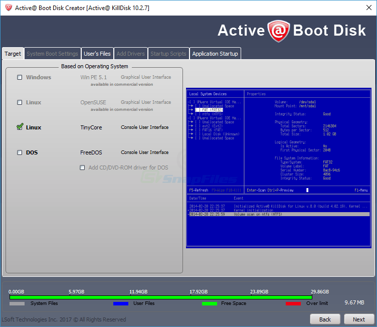 screenshot of Active KillDisk