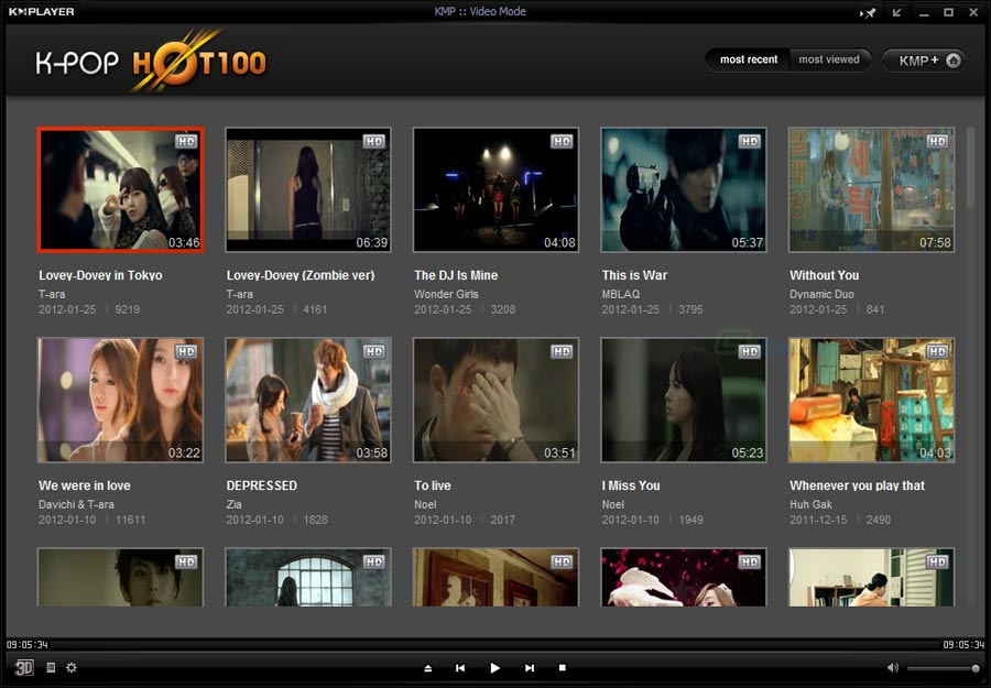 screenshot of KMPlayer