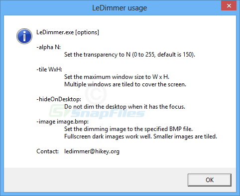 screenshot of LeDimmer