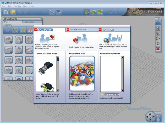 screen capture of LEGO Digital Designer