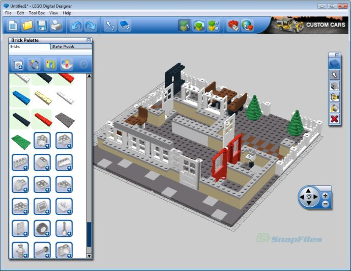 Lego digital designer screenshot and download at for Digital blueprint maker