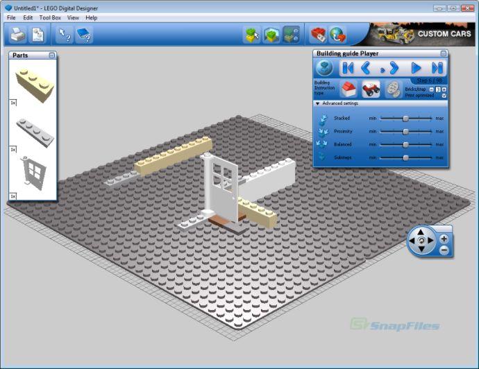 screenshot of LEGO Digital Designer
