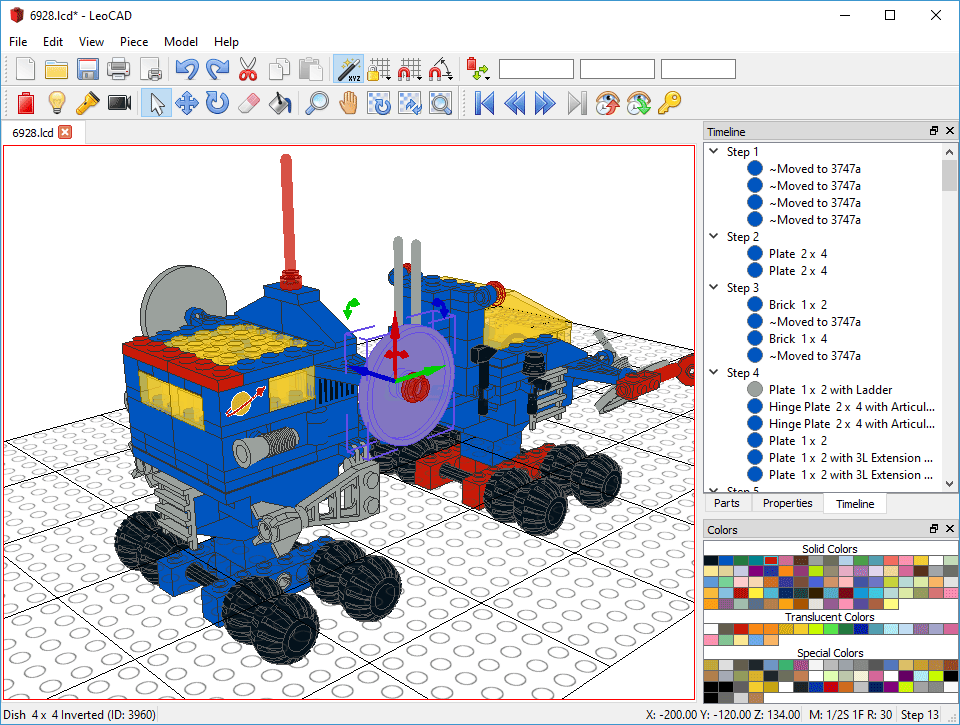 LeoCad - Design virtual models you can build with LEGO bricks