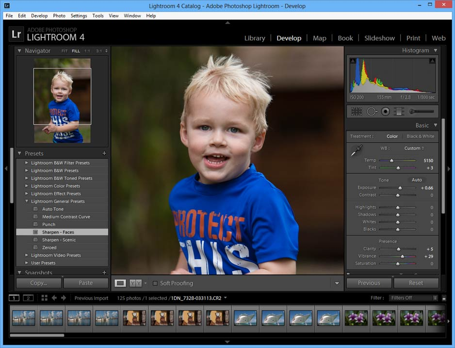 screen capture of Adobe Lightroom