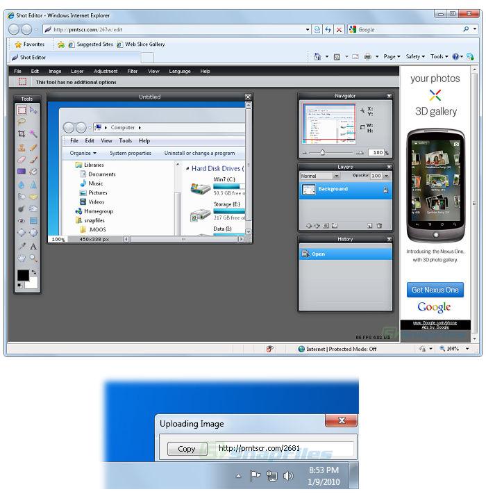 Lightshot screenshot and download at SnapFiles.com