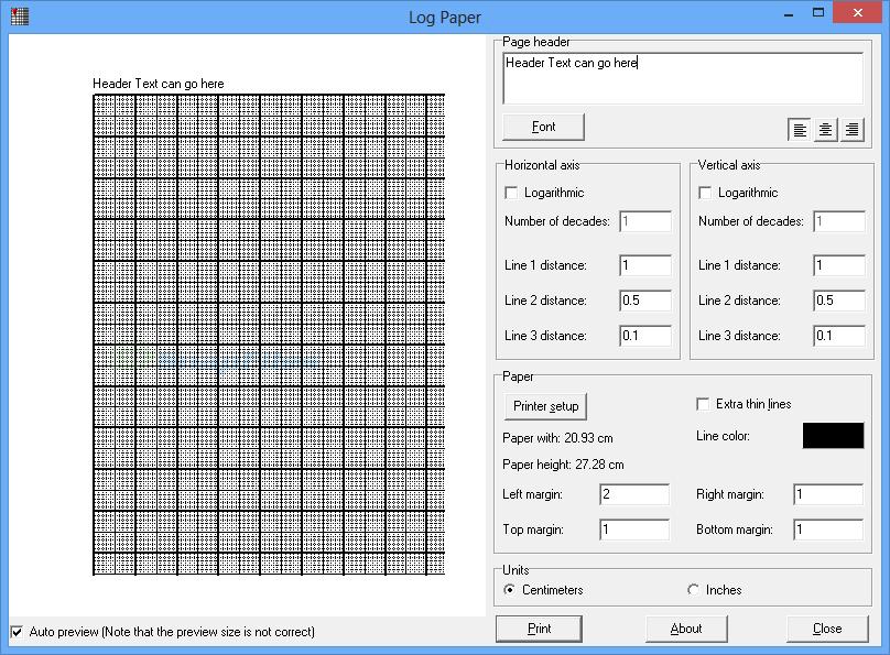screen capture of Log Paper