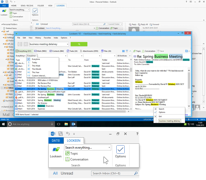 screenshot of Lookeen Desktop Search