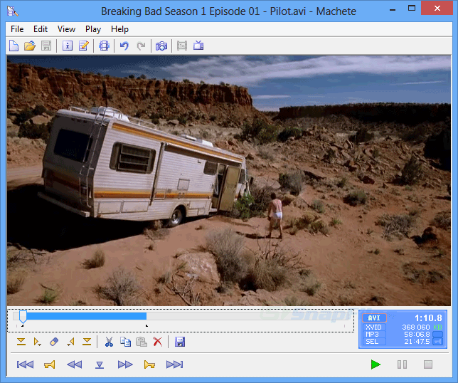 screen capture of Machete Lite