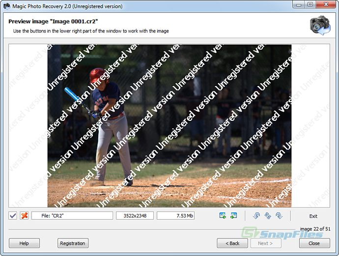 screenshot of Magic Photo Recovery