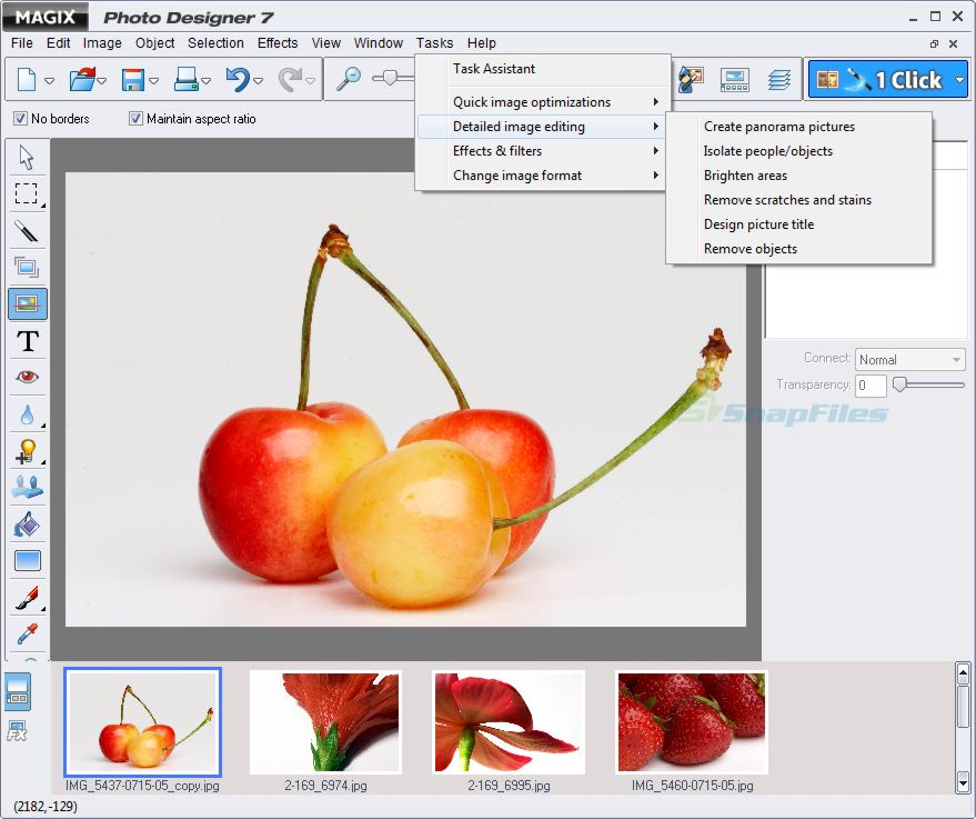 screen capture of MAGIX Photo Designer