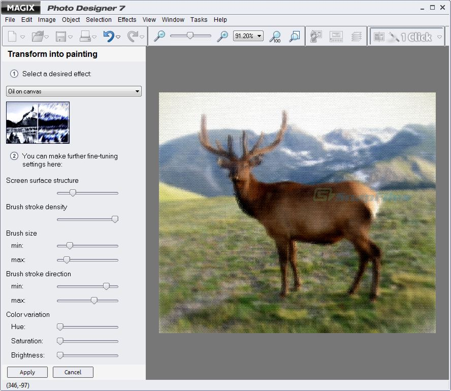 screenshot of MAGIX Photo Designer