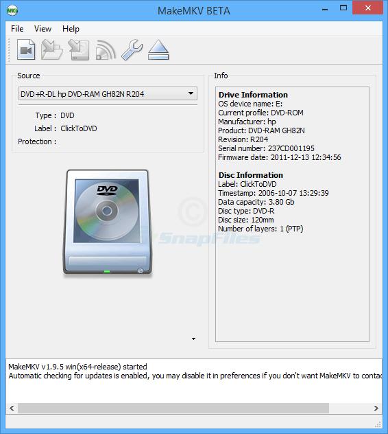 MakeMKV - convert DVDs to MKV files