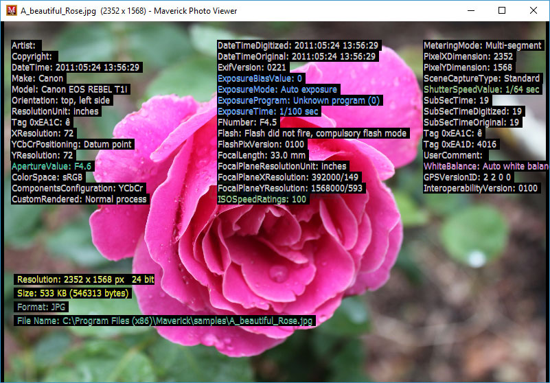 screenshot of Maverick Photo Viewer