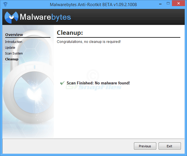 screenshot of Malwarebytes Anti-Rootkit BETA