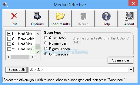 screenshot of Media Detective