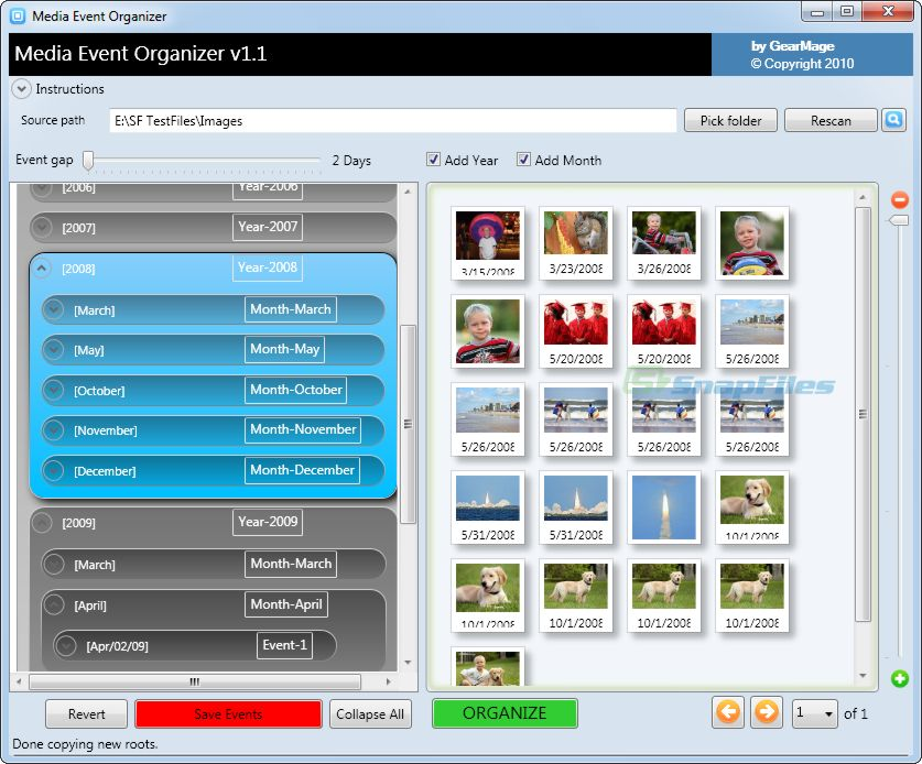 screenshot of GearMage Photo Organizer