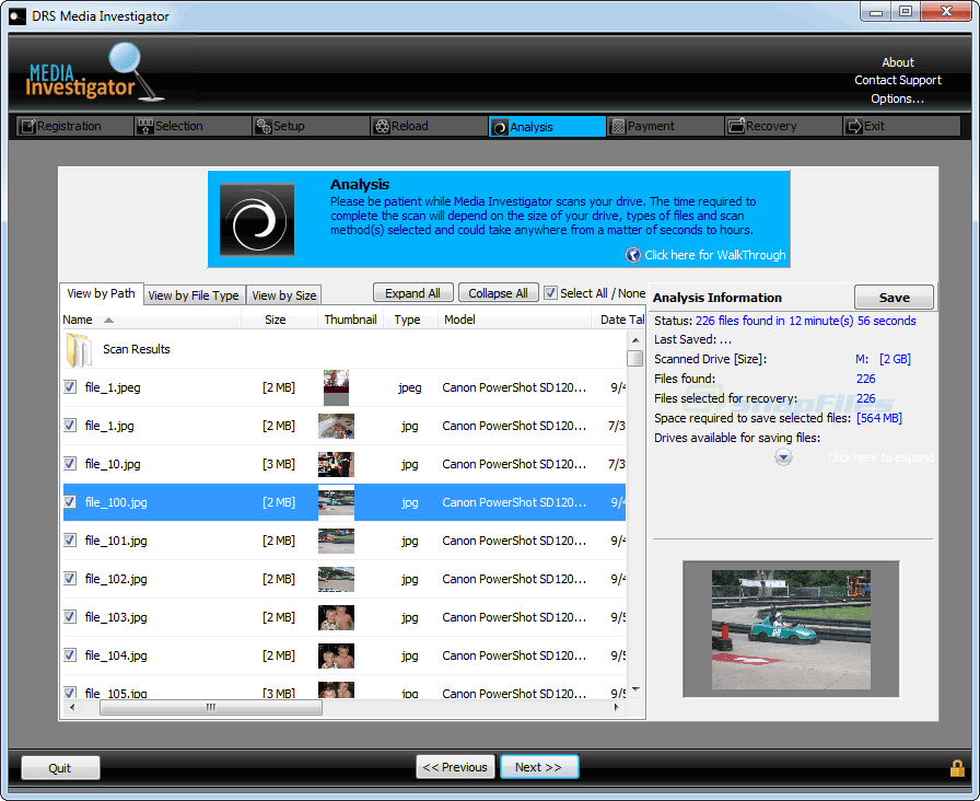 screenshot of Media Investigator