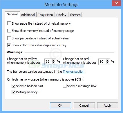 screenshot of MemInfo