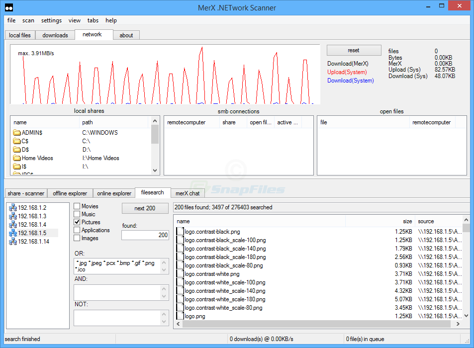 screenshot of MerX .Network Scanner