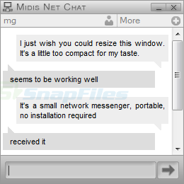 screen capture of Midis Net Chat