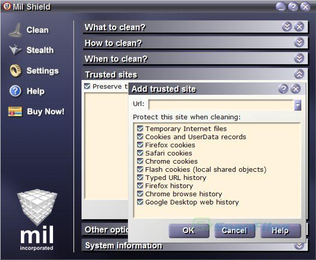 screenshot of Mil Shield