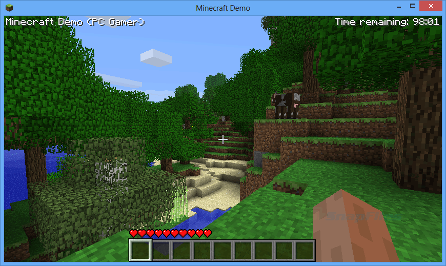 screen capture of Minecraft
