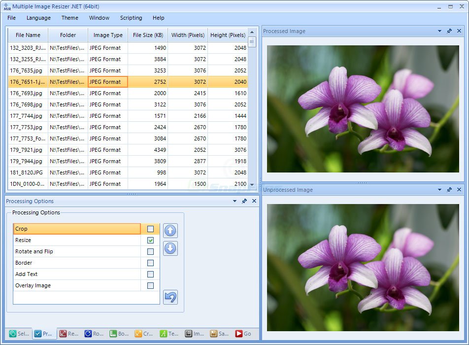 screen capture of Multiple Image Resizer .NET