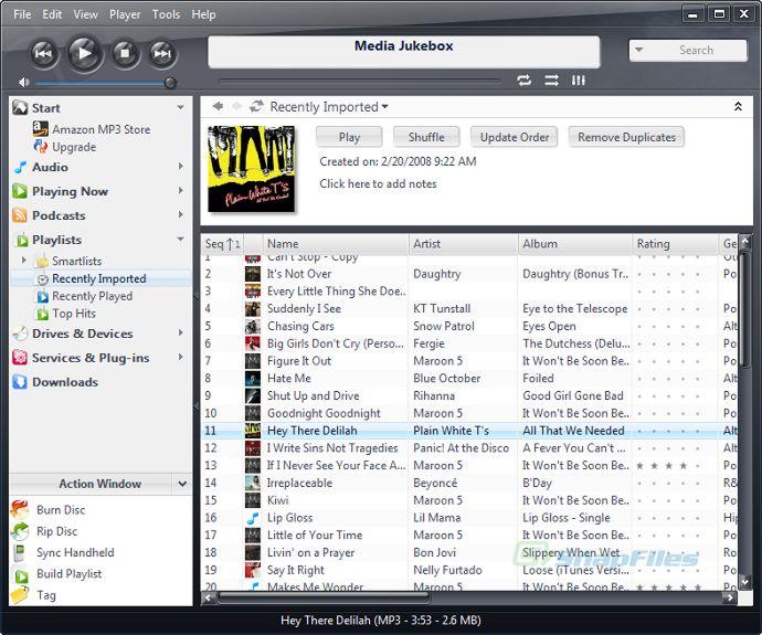 screen capture of Media Jukebox