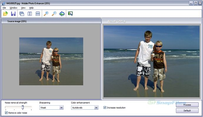 screen capture of Mobile Photo Enhancer