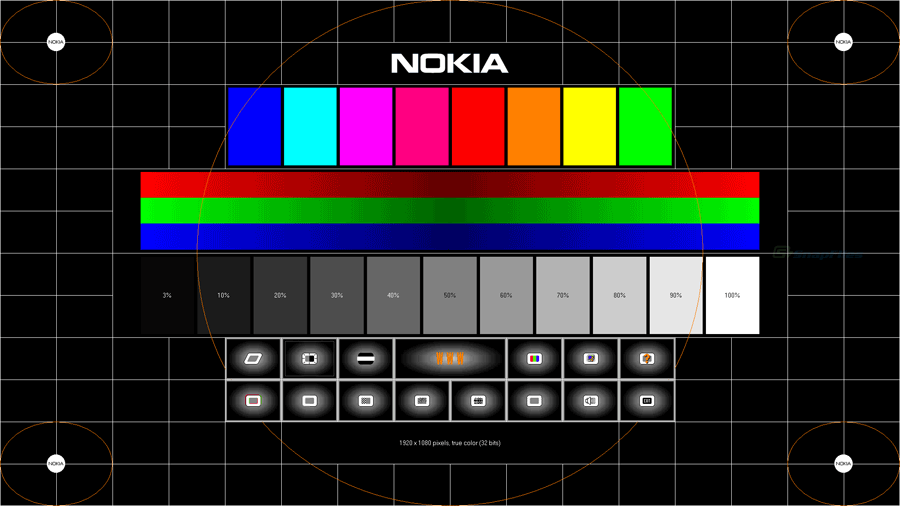 screen capture of Nokia Monitor Test