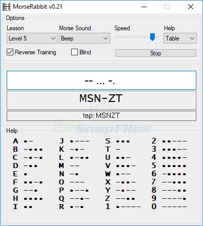 screenshot of MorseRabbit