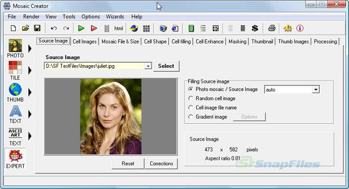 screen capture of Mosaic Creator