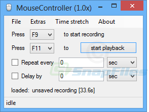 screen capture of Mouse Controller