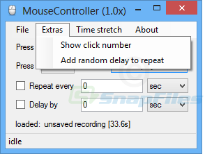 screenshot of Mouse Controller