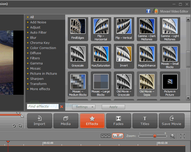 screenshot of Movavi Video Editor