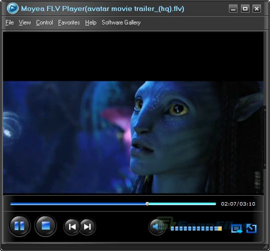 screen capture of Moyea FLV Player