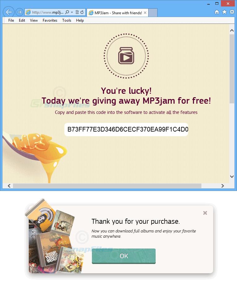 screenshot of MP3jam