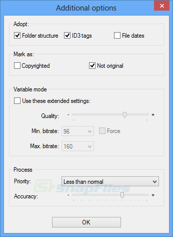 screenshot of MP3 Quality Modifier