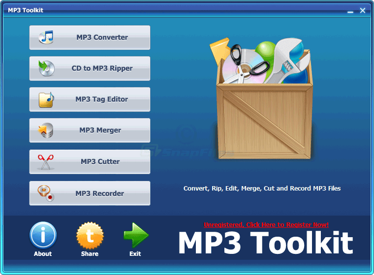 screen capture of MP3 Toolkit