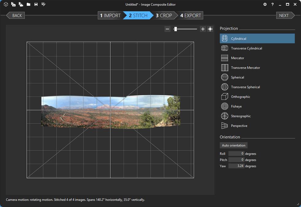 screenshot of Image Composite Editor