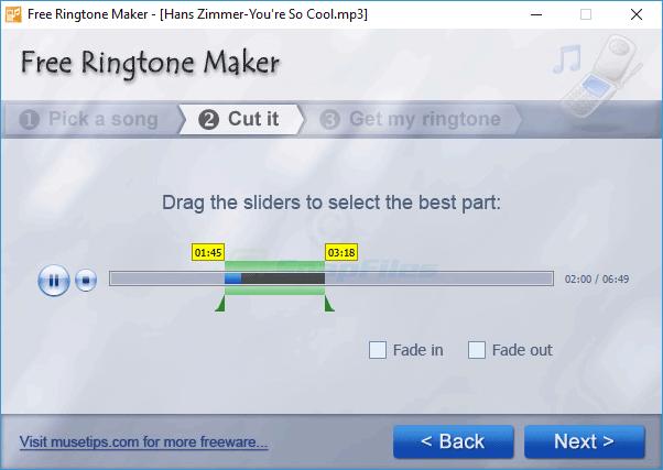 screenshot of MuseTips Free MP3 Ringtone Maker